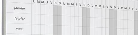 Tableau blanc de planning